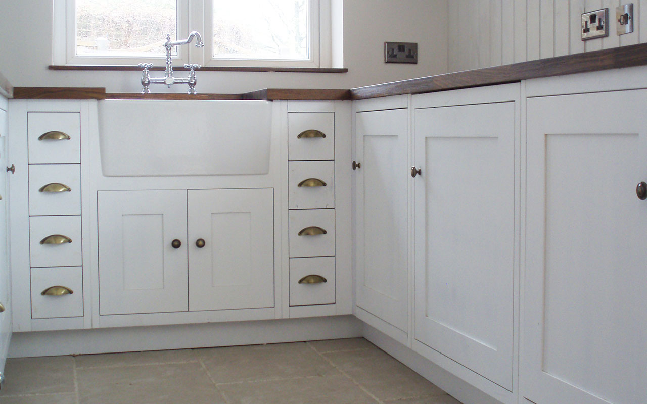 Custom made wooden kitchen cabinets